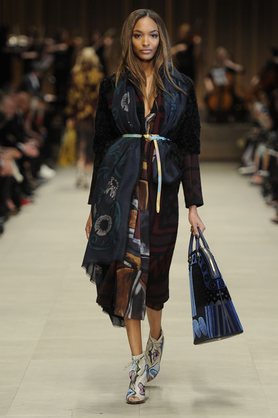 Jourdan Dunn Burberry Prorsum Fall Winter 2014 London Fashion Week