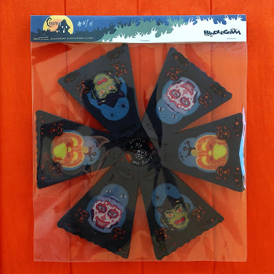 A packaged lantern by Bindlegrim (top view) features the creeps - jack o'lantern pumpkin, clown, and witch