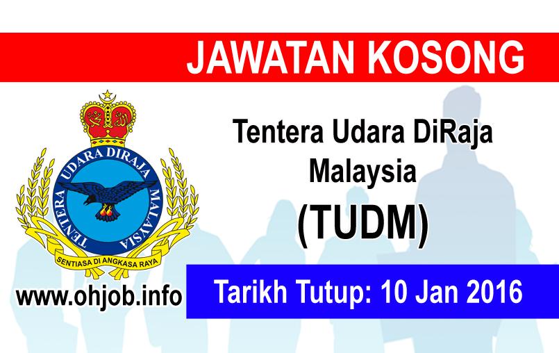 Jawatan Kerja Kosong Tentera Udara Diraja Malaysia (TUDM) logo www.ohjob.info januari 2016