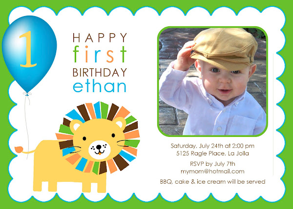 Roar!  Lion / Zoo Birthday Invitation