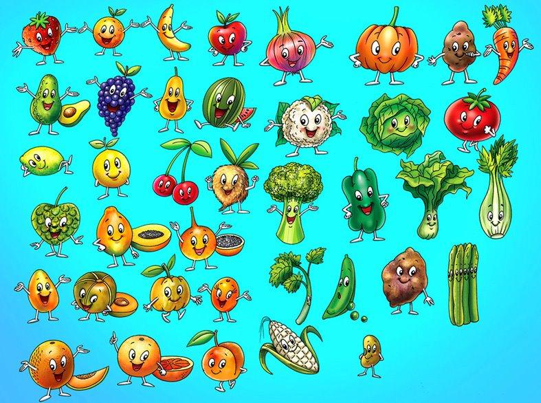 """Las Frutas y Las Verduras"""": Actividad mural."""