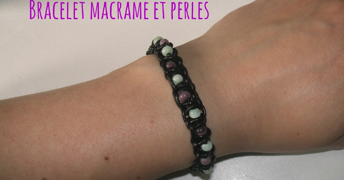 Bevorzugt Gabulle in Wonderland: Bracelet d'été en macramé et perles NR94