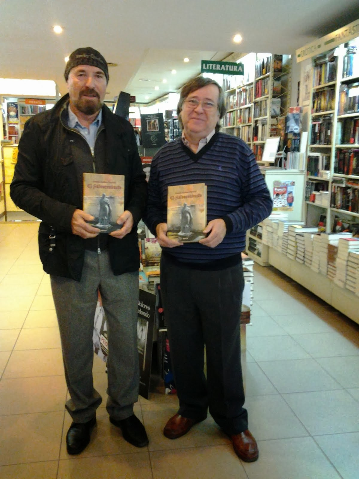 Con Paco, librería Ali i truc (Elche).