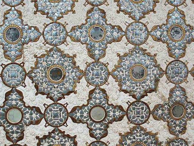 mosaic, mirror, rosette, reflection