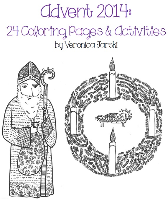 Paper Dali: Advent 2014: Coloring Pages and Activities