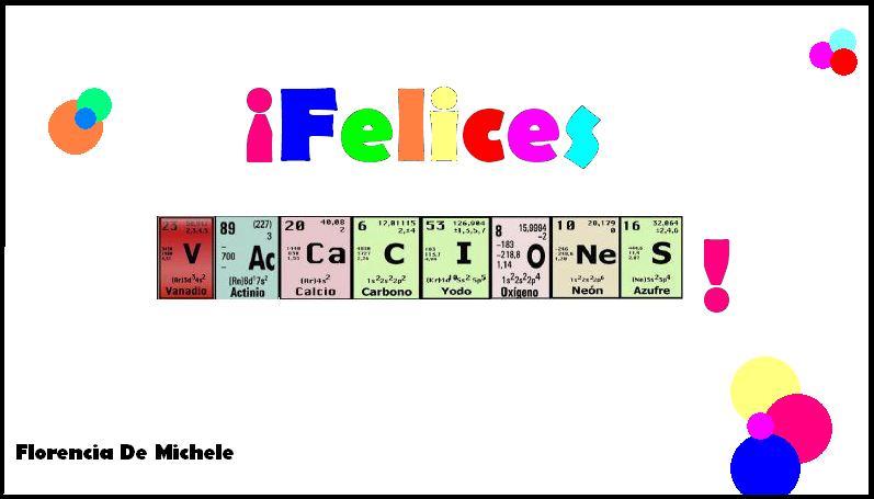 Zarpado en qumica Felices vacaciones
