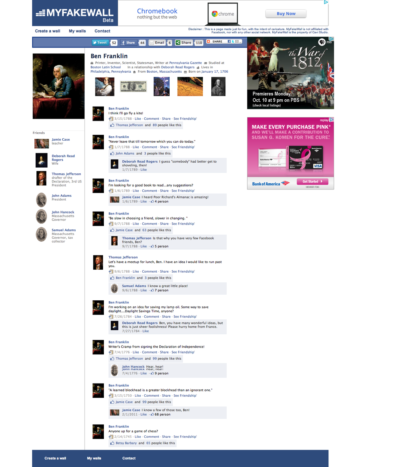 Historical Facebook Template. facebook templates for students ...