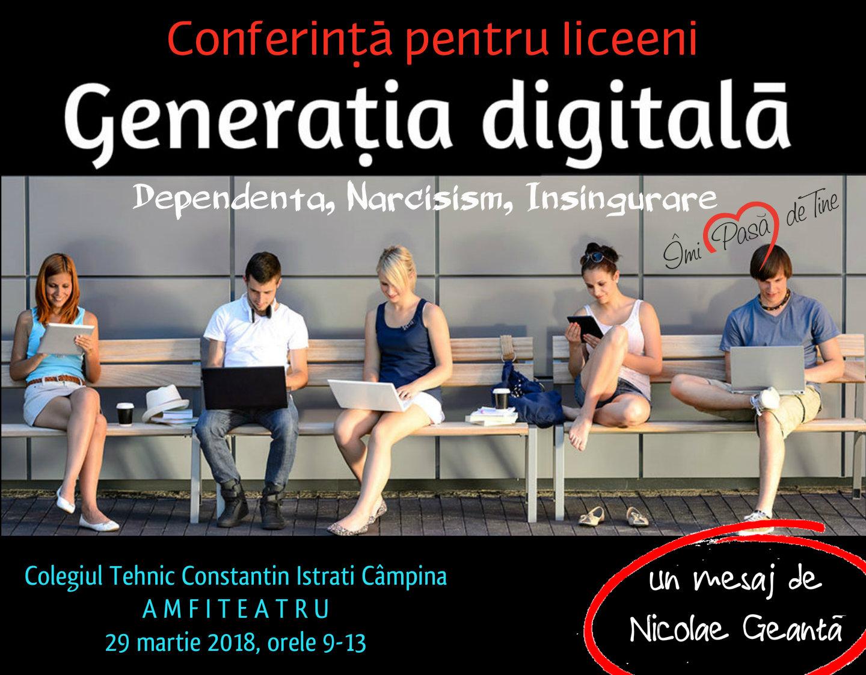 Conferință pentru liceeni la Câmpina