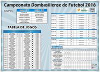 Tabela do Campeonato 2016