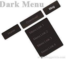 Css-dark-menu