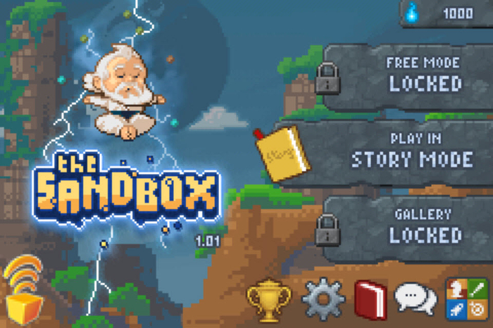 the sandbox The sandbox 728,879 likes 214 talking about this craft your worlds in pixels, play with laws of physics, build contraptions or compose chiptunes.