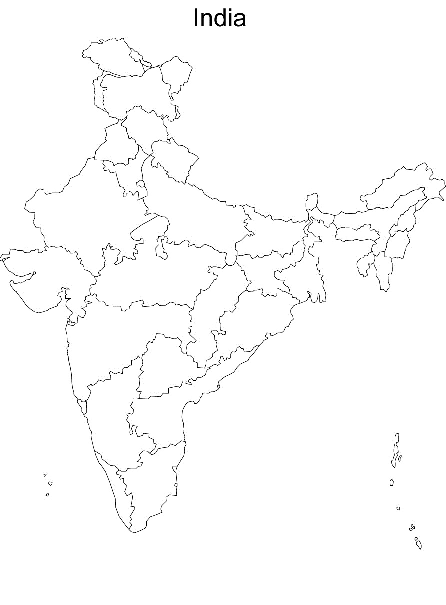 Map Of India Coloring Page - Free Coloring Pages
