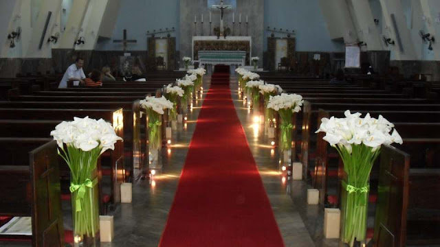 C  MO DECORAR IGLESIA PARA BODA CHURCH WEDDING DECORATIONS En