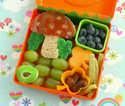 mushroom woodland bento 