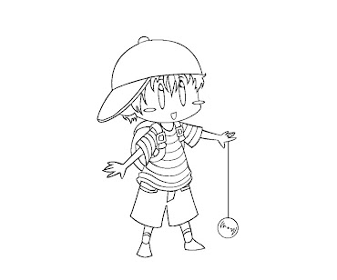 #12 Ness Coloring Page