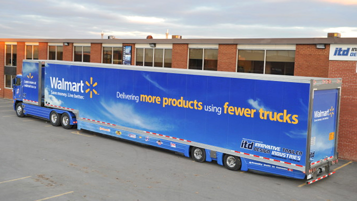 Walmart fewer trucks