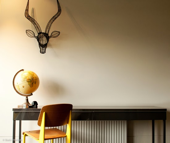 Safari Fusion blog | Inside a customer's home | Safari Fusion's black wire Impala Head finds a new home in a boy's room | Interior by Bask Interiors