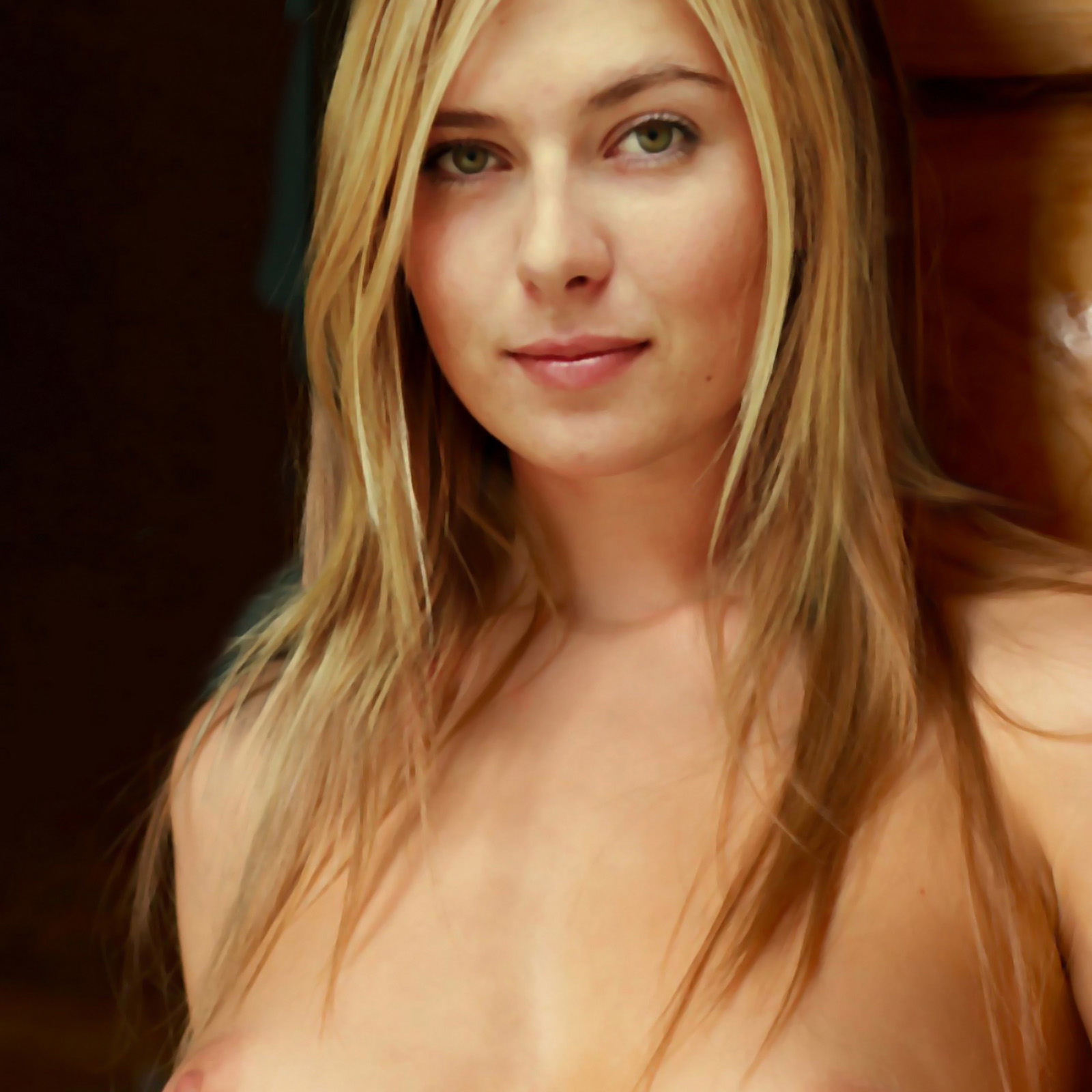 Maria Sharapova Young And Topless Show Nice Boobs Hq