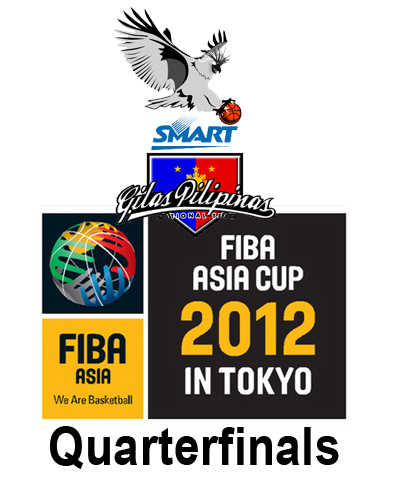 Smart Gilas Philippines vs Chinese Taipei in FIBA Asia Cup 2012 Quarterfinals