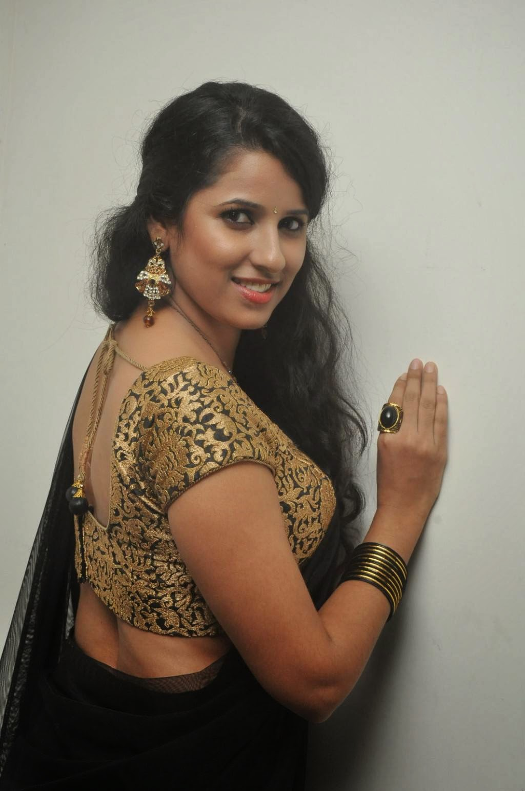 Sravya Reddy In Half Saree