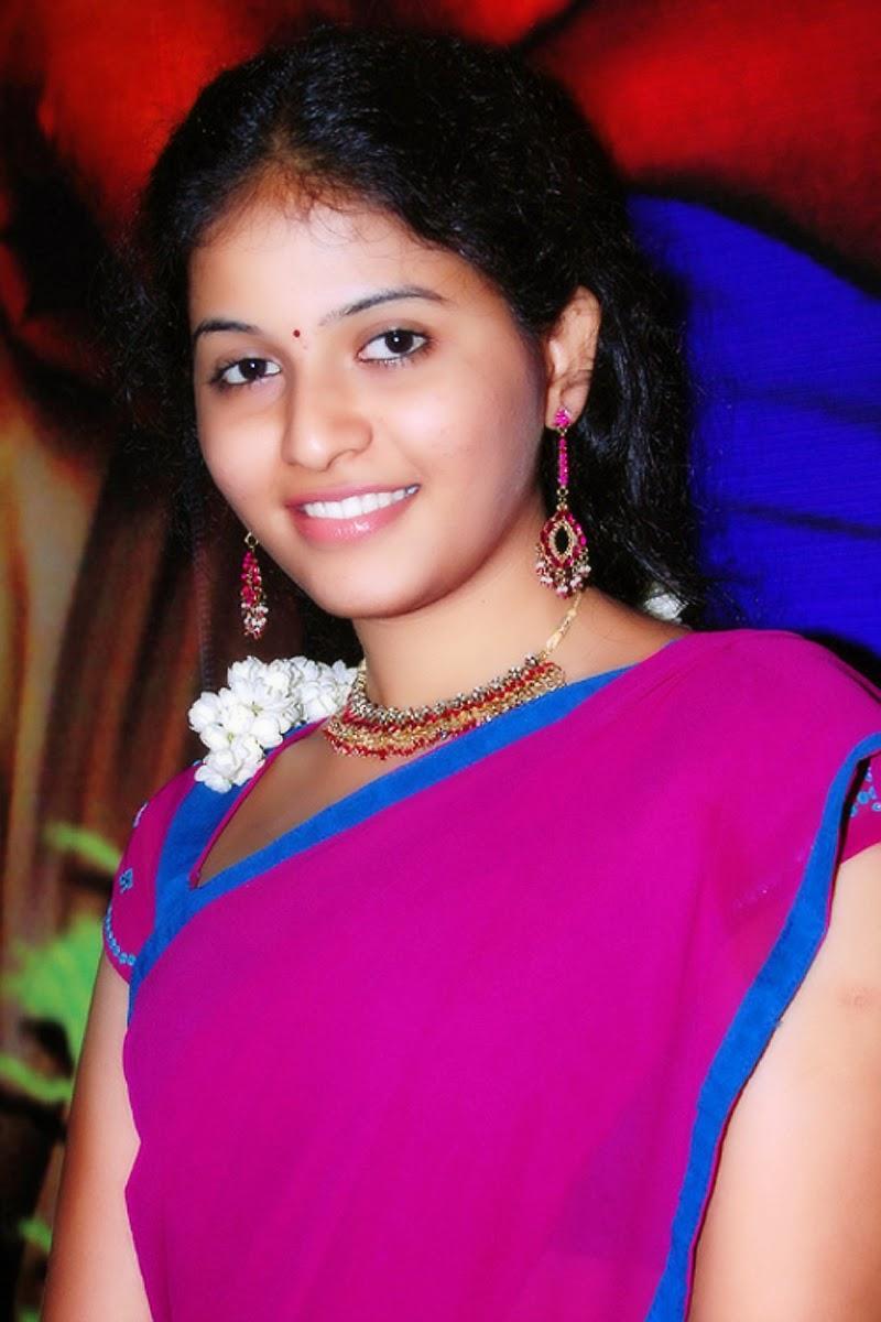 cute homely actress: south indian actress anjali in half saree cute
