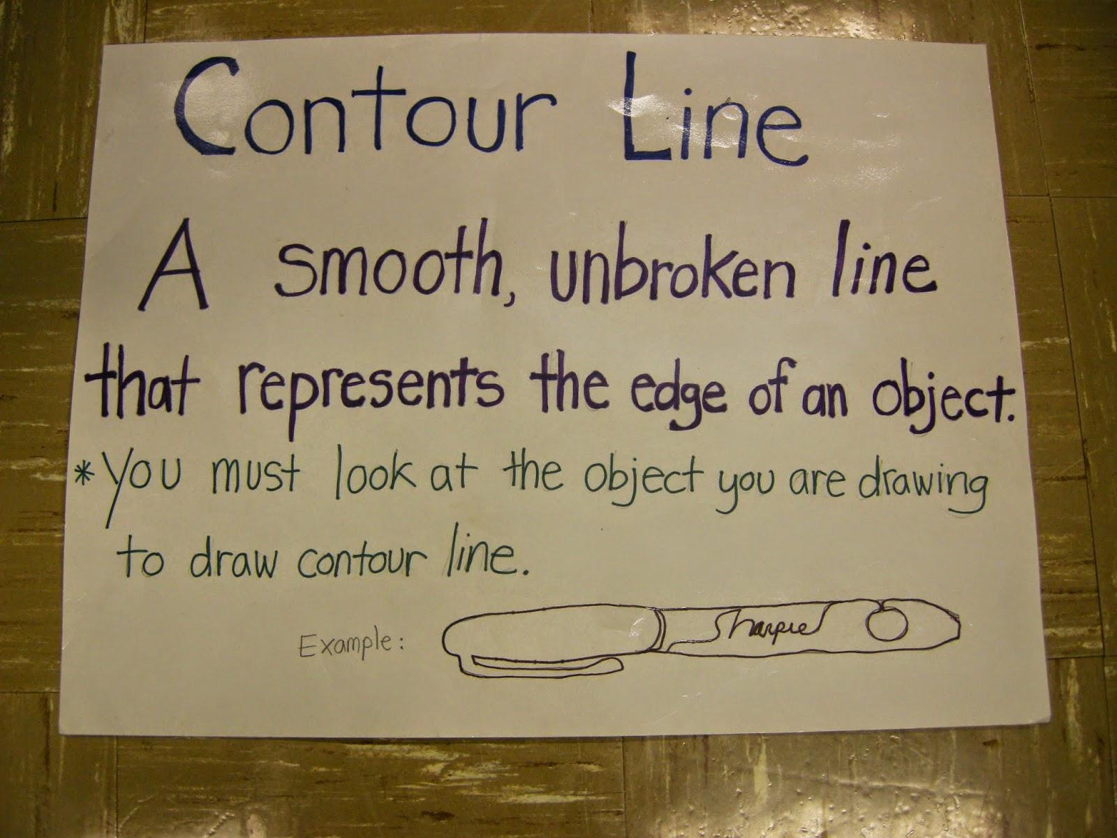 Contour Line Drawing Th Grade : Zilker elementary art class th grade contour line