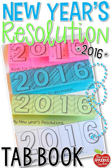 New Year's Resolution tab book FREEBIE