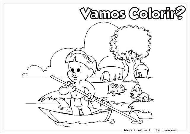 Dia do Índio para colorir