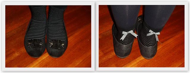 Meia-calça + meia desenhada + sapato ?