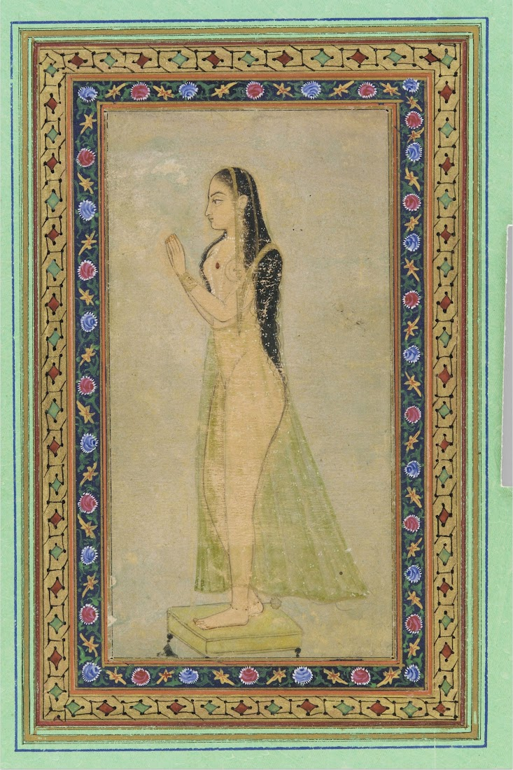 Lady at Prayer, Mughal Painting c1900
