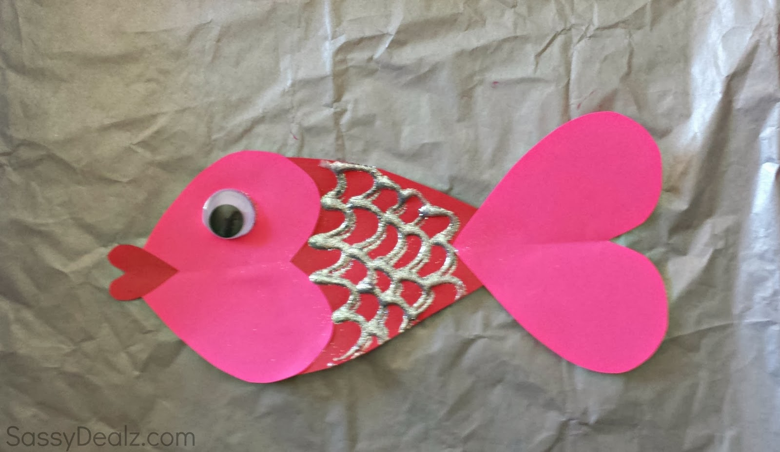 valentine heart fish craft for kids