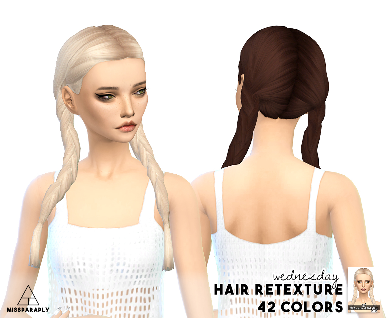 My Sims 4 Blog Clay Hair Retexture By Missparaply