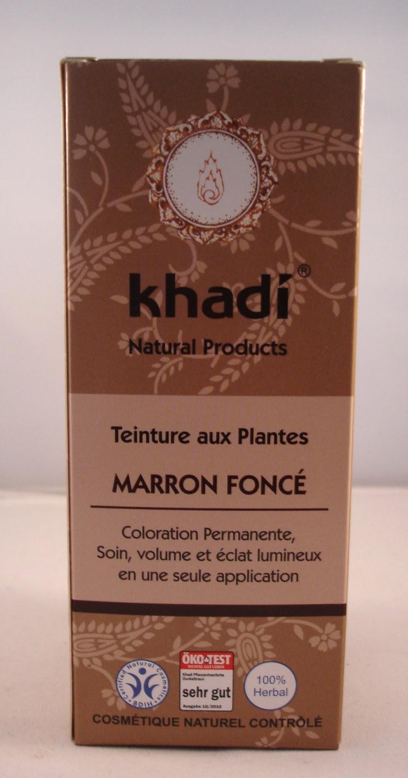 aprs avoir fouin sur bt mon choix sest port sur la coloration khadi en teinte marron fonc 860 euros chez mademoiselle bio - Khadi Coloration