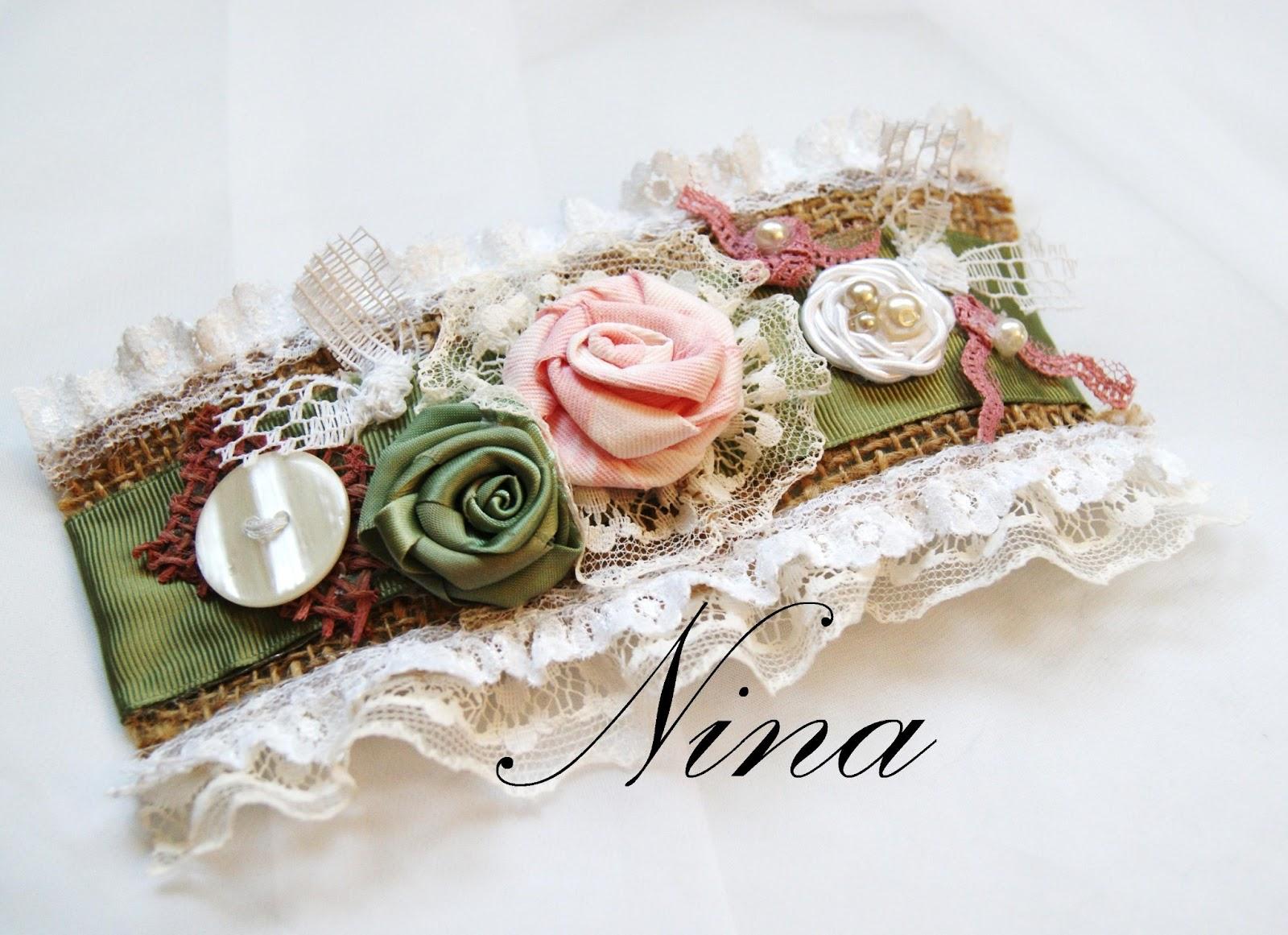 Ninas Art Jewelry Design Victorian Vintage Fabric Bracelet