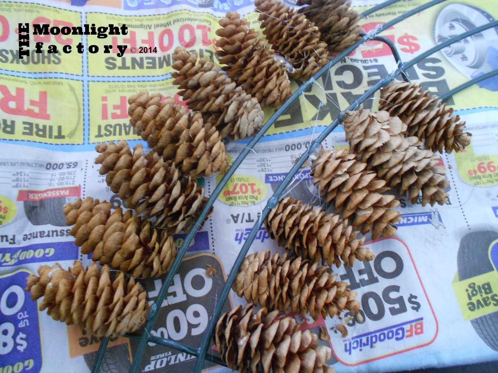 the moonlight factory pine cones galore