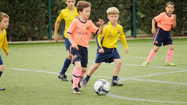 Упражнения для детей в футболе