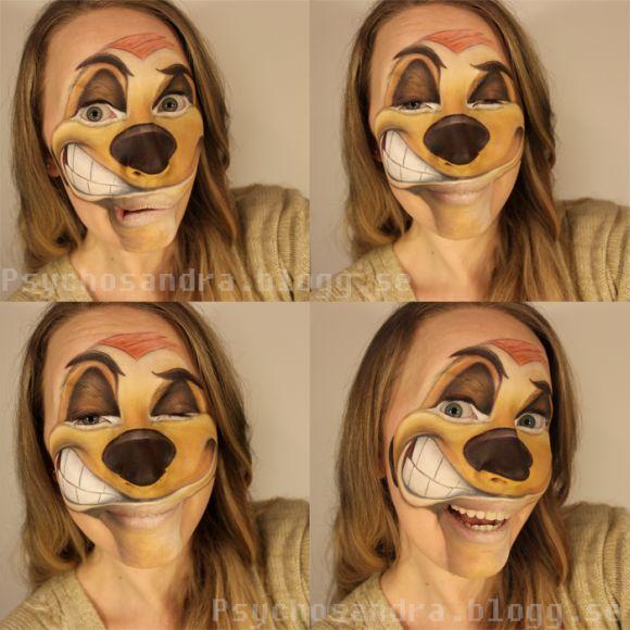 Sandra Holmbom auto-maquiagens criativas e bizarras Hakuna Matata