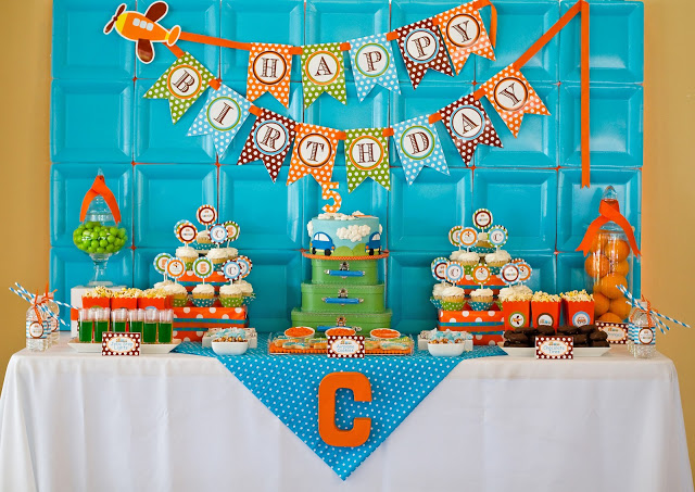 transportation party dessert table ideas