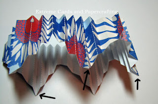 pleats on accordion pleated star