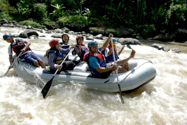 Rafting on Elo River, Magelang, Central Java. AeroTourismZone