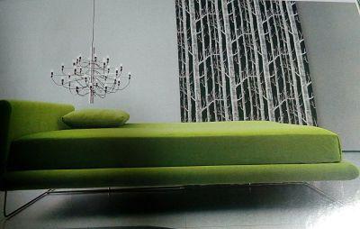 Sillón verde para relajarte