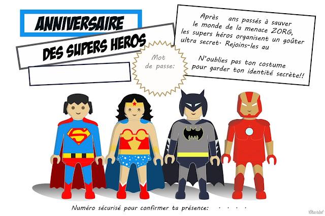 Souvent L'anniversaire du Super Héros ! - les malices de la miss JL55