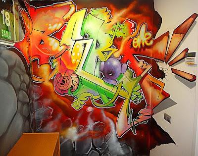 letras graffity. Colorful Berok Graffiti