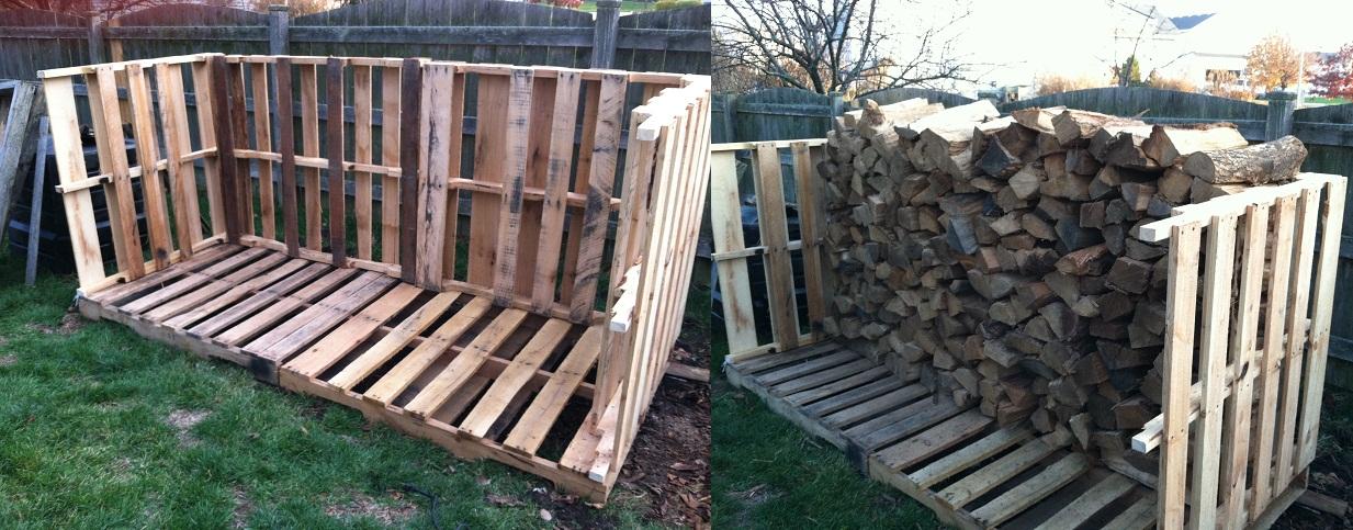 Firewood Rack Pallet images