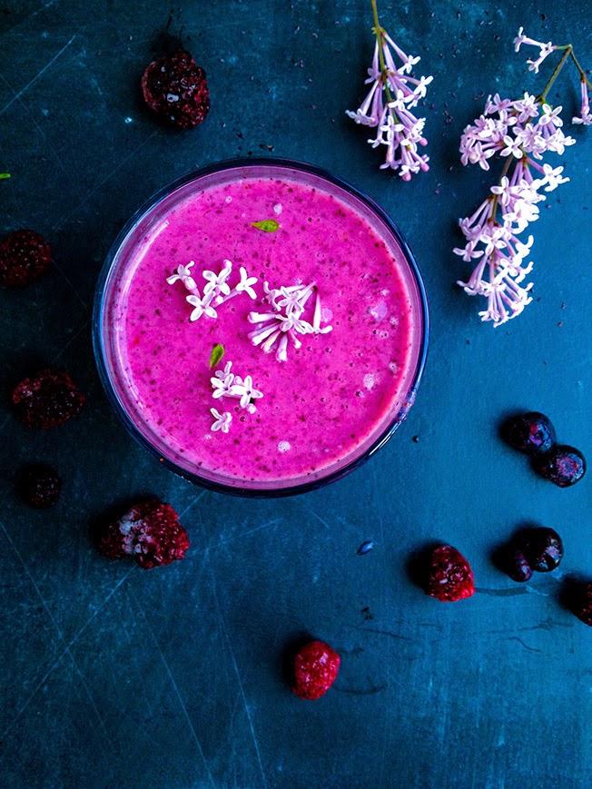 Smoothie med masser af antioxidanter og probiotika