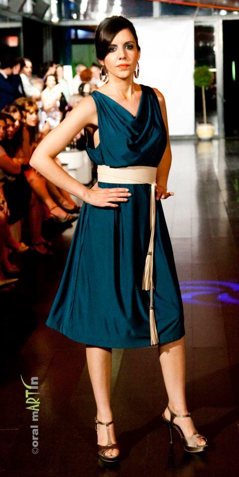 Complementos para vestido azul petroleo