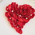 DIY Rose Heart Wreath Wall Decor