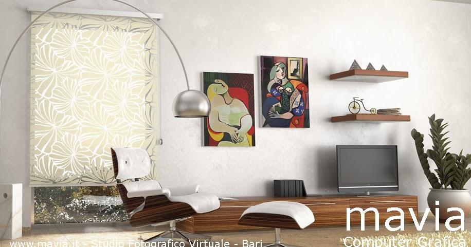 Arredamento di interni arredo tende modello tenda a pannello da interni per soggiorno moderno - Programma per arredamento interni ...