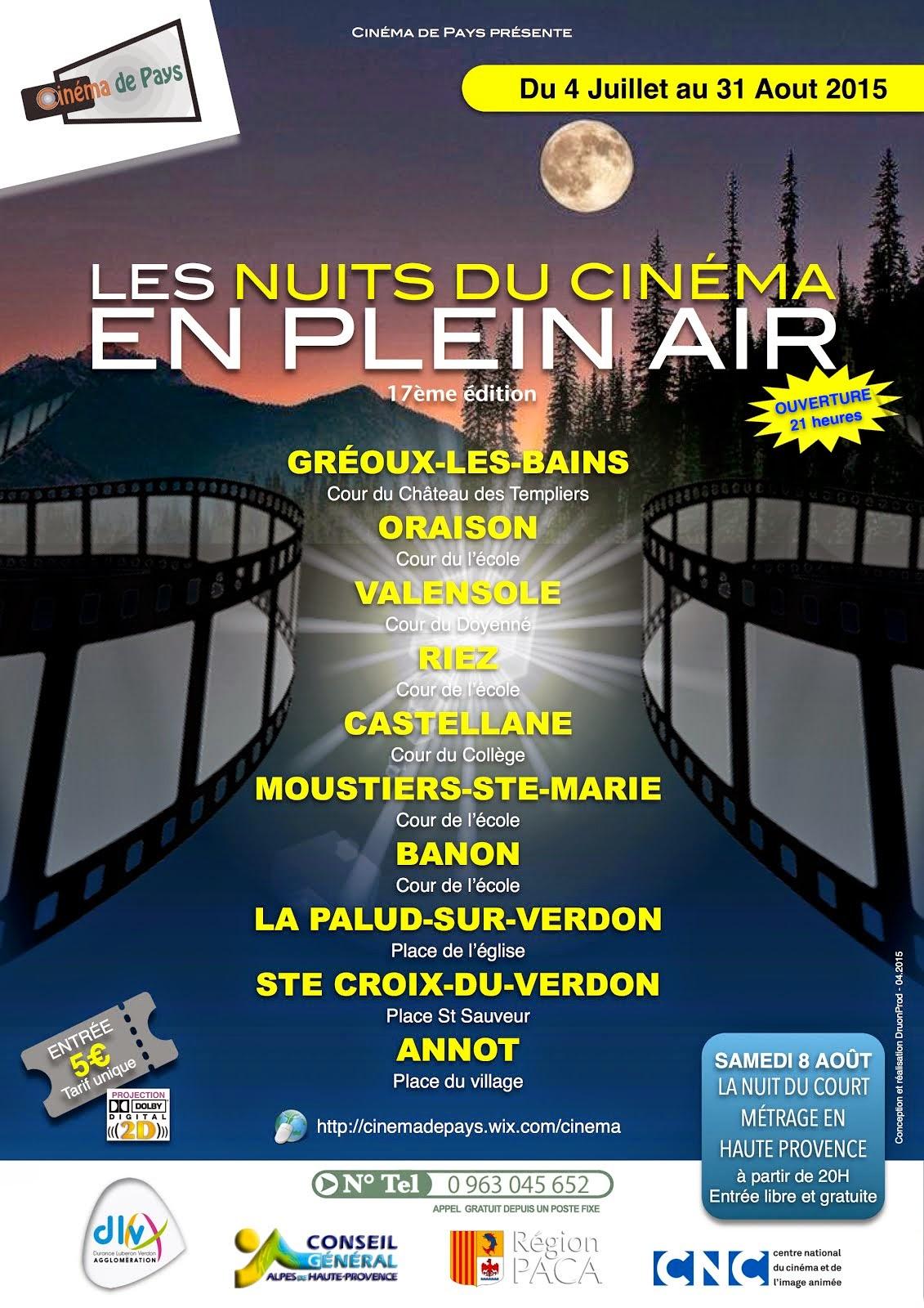 Cinéma d'été en Haute Provence
