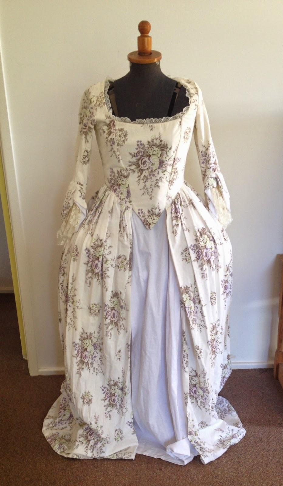 Fashioning Nostalgia: White and Floral 18th Century \'Marie ...